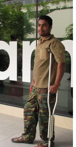 Amran at Khoo Teck Puat Hospital a year earlier