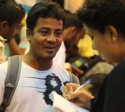Ahmed Ripon speaking to the writer